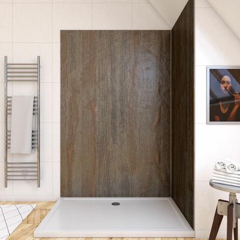 Panneau mural de douche finition Pierre en composite pierre de mica et resine - 120 x 210 cm