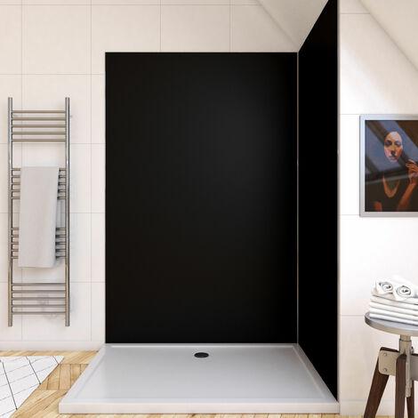 Panneau mural de douche NOIR en aluminium - 120 x 210 cm - WALL\'IT NOIR 120