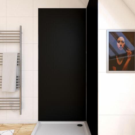 Panneau mural de douche NOIR en aluminium - 90 x 210 cm - WALL\'IT NOIR 90