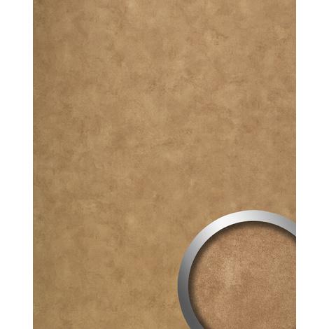 Panneau mural vintage WallFace 19397 CLASSY BRONZE Revêtement mural lisse d'aspect métal brillant auto-adhésif bronze 2,6 m2