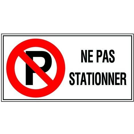 Panneau Ne pas stationner - Rigide 960x480mm - 4000336