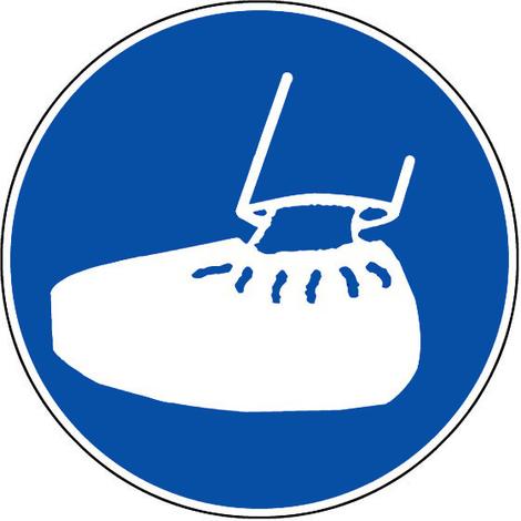 Panneau Obligation de porter des sur-chaussures - Novap