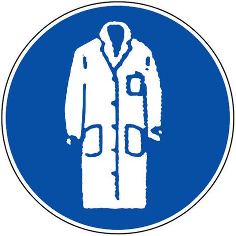 Panneau Obligation de porter une blouse - Novap