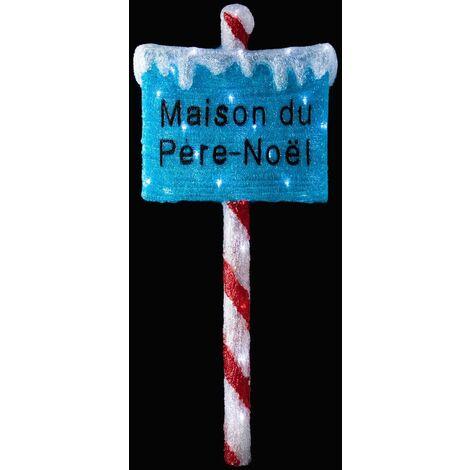 Panneau Père Noël lumineux - Fééric Christmas