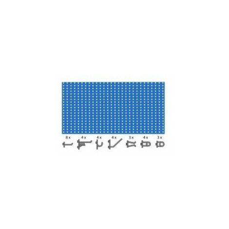 Panneau perfore 0.96 x0.46 +30cravec 30 crochets