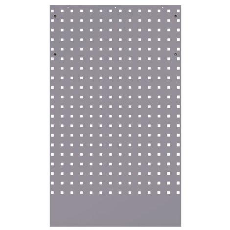 Panneau perforé gris - 615 x 1 052 x 25 mm - -