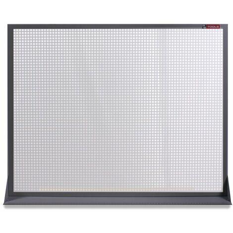 Panneau perforé plat en métal gris 120x94cm MW-Tools DEKP120-1015