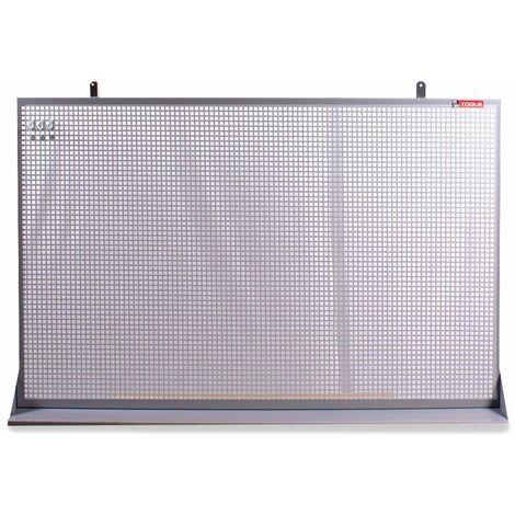 Panneau perforé plat en métal gris 150x94cm MW-Tools DEKP150-1015