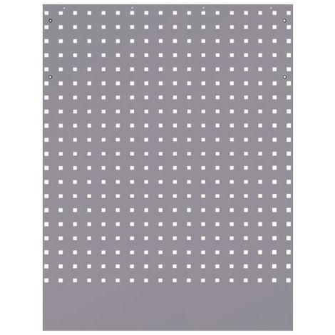 Panneau perforé pour meuble d'angle gris - 798 x 24 x 1 052 mm - -