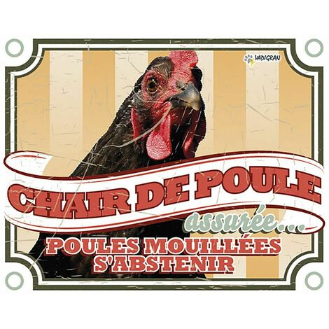 Panneau photo S poule vintage 3 fr