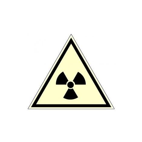 Panneau photoluminescent Danger de radiation - Rigide Triangle 300mm - 4209029