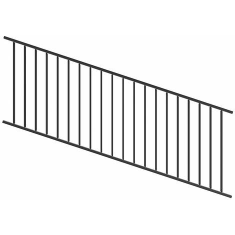Panneau pour clôture incliné et réglable 863X2387