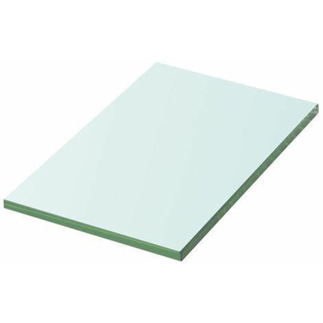 Panneau pour étagère verre transparent 20 x 12 cm