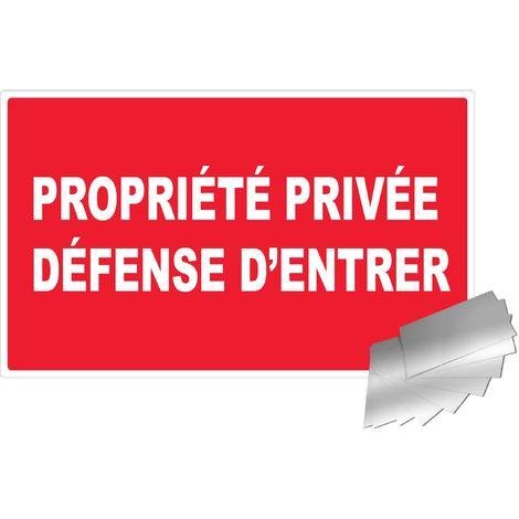 Panneau Propriété privée défense d'entrer - Alu 330x200mm - 4010304