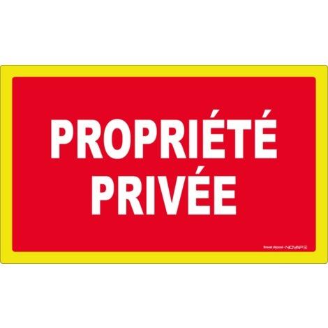 Panneau Propriété privée - haute visibilité - 330x200mm - 4090634