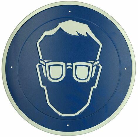 """main image of """"Panneau Protection yeux obligatoire diamètre 300 mm, aluminium"""""""