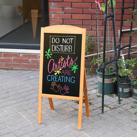 Panneau Publicitaire Magnétique Porte Affiche A1 Chevalet Stop Trottoir pour Café Bar Restaurant