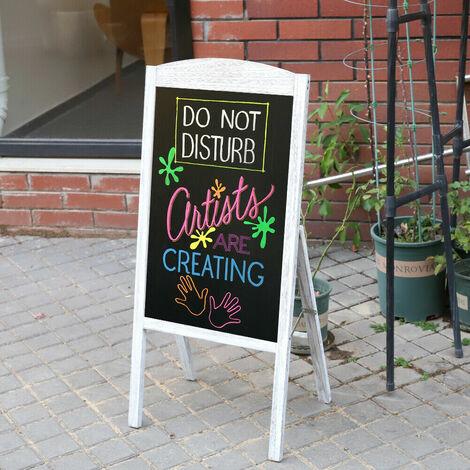 Panneau Publicitaire Magnétique Porte Affiche A1 Chevalet Stop Trottoir pour Café Bar Restaurant - Gris