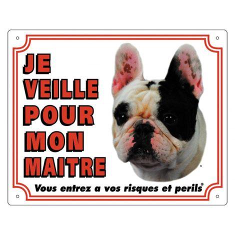 Panneau pvc bouledogue français blanc fr