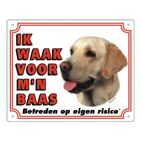 Panneau PVc Labrador Retriever Sable blanc NL