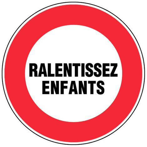 """main image of """"Panneau Ralentissez enfants - Novap"""""""