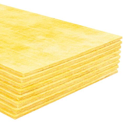 Panneau résilient en laine de verre ISOSOL 13 mm pour l'isolation acoustique faible épaisseur des sols - 20,16m² : pack de 28 panneaux 0,6*1,2 m - ISOVER