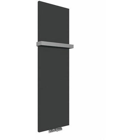 Panneau sèche-serviette - Chauffage Central - Noir Mat - Raccordement au centre - Case Slim/ZXN (plusieurs tailles disponibles)