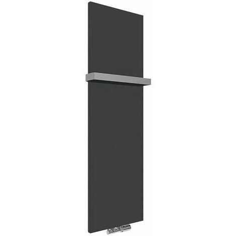 Panneau sèche-serviette électrique noir mat - Case Slim/E1N (plusieurs tailles disponibles)
