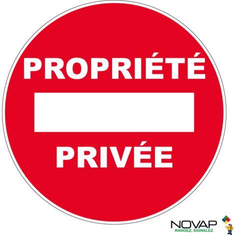 Panneau Sens interdit - Propriété privé - Rigide Ø180mm - 4042299