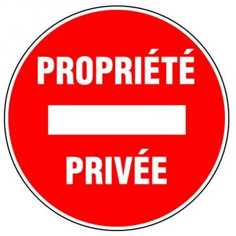 Panneau Sens interdit - Propriété privée - Novap