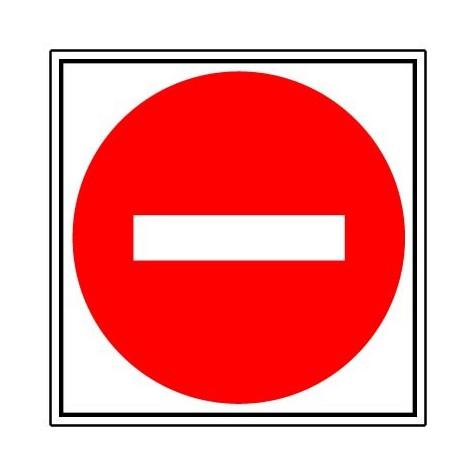 Panneau Sens interdit - Rigide 480x480mm - 4010090