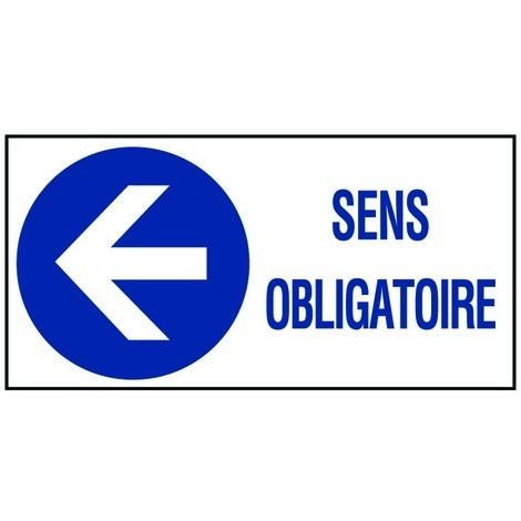 """main image of """"Panneau Sens obligatoire flèche à gauche - Rigide 960x480mm - 4000374"""""""