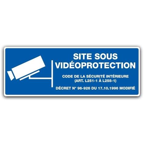 Panneau Site Sous Vidéoprotection - Longeur 330 x largeur 120 ou 200 mm