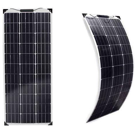 Panneau solaire 100w 12v monocristalin souple-flexible-EcoWatt-Flex