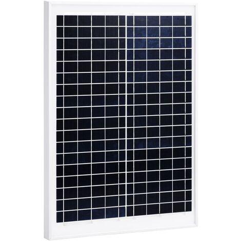 Panneau solaire 20 W Polycristallin Aluminium Verre de sécurité
