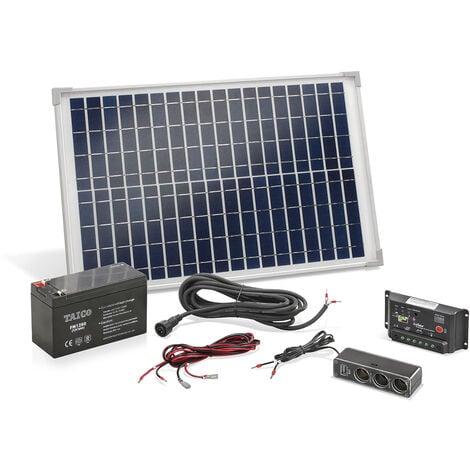 """main image of """"Panneau solaire 20 watts, avec batterie et prise multiple incluses Esotec"""""""