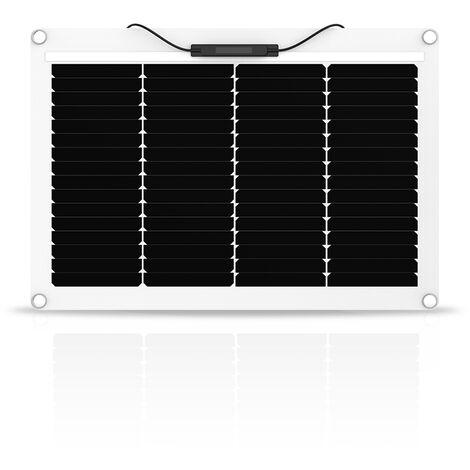 Panneau solaire 50w 12v monocristalin souple-flexible ETFE carré-EcoWatt-Flex