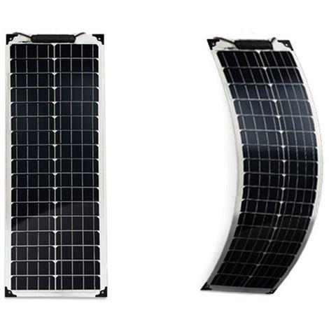 Panneau solaire 50w 12v Monocristallin souple-flexible Longue-EcoWatt-Flex