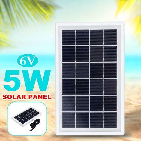 """main image of """"Panneau solaire 5W 6V avec économie d'énergie de panneau solaire de polysilicium de 3M DC Cabel Type C"""""""