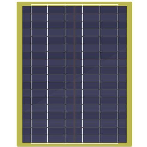 Panneau solaire époxy 20W Module solaire 20W et câble et clip de batterie Charge d'urgence