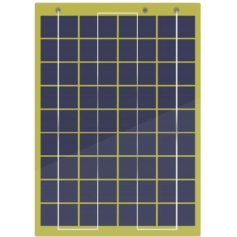 Panneau solaire époxy de 10 watts avec clips de batterie