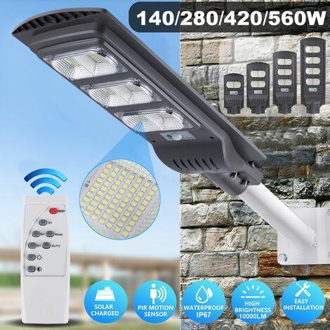 Panneau solaire étanche pour réverbère blanc froid haute luminosité (type E 140 LED)