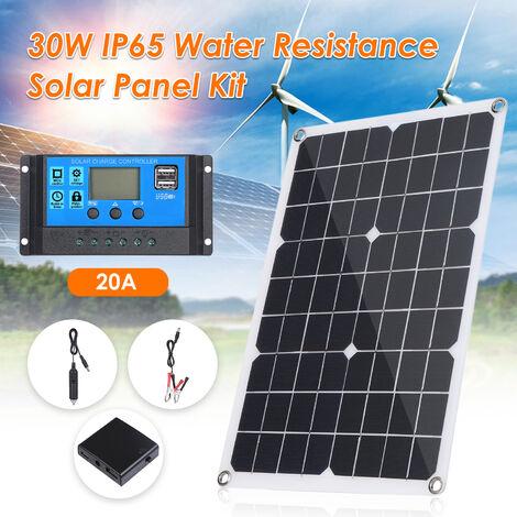 kkmoon Panneau solaire 30W 12V semi flexible Appareil Chargeur
