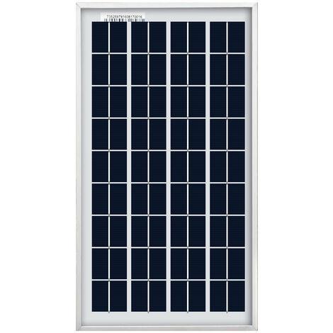 Panneau solaire PV 10W Charge de batterie 12V haute efficacité pour camping caravaning