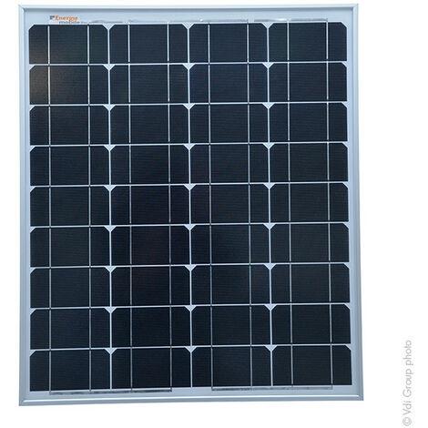 Panneau solaire rigide 50W-12V Monocristallin à Haut Rendement