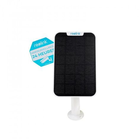 Panneau solaire supports blancs GEN.2 pour caméras Reolink - Alimentation continue / bras réglable / Câble 4m
