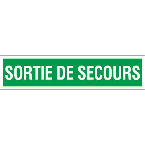 """main image of """"Panneau Sortie de secours - Rigide 330x75mm - 4120911"""""""