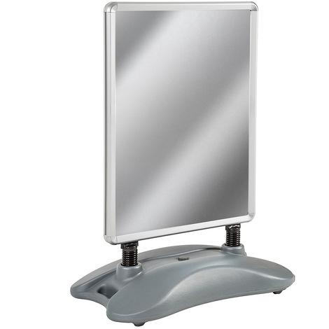 Panneau Stop Trottoir pour Affiche Publicitaire A1 en Aluminium avec 2 Films Plastiques