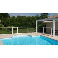 Panneau transparent 1 mètre pour barrière de piscine