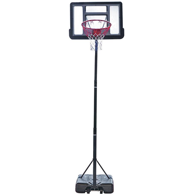 Talkeach - Panneau transparent de PVC d'adolescent de panier de basket-ball de système de basket-ball démontable portatif avec la taille réglable 7ft
